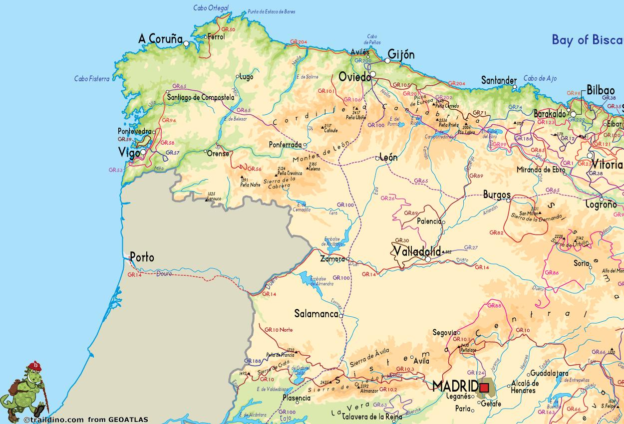 Coast Of Spain Map.Map Of North West Spain Map Of North West Spain Coast Southern