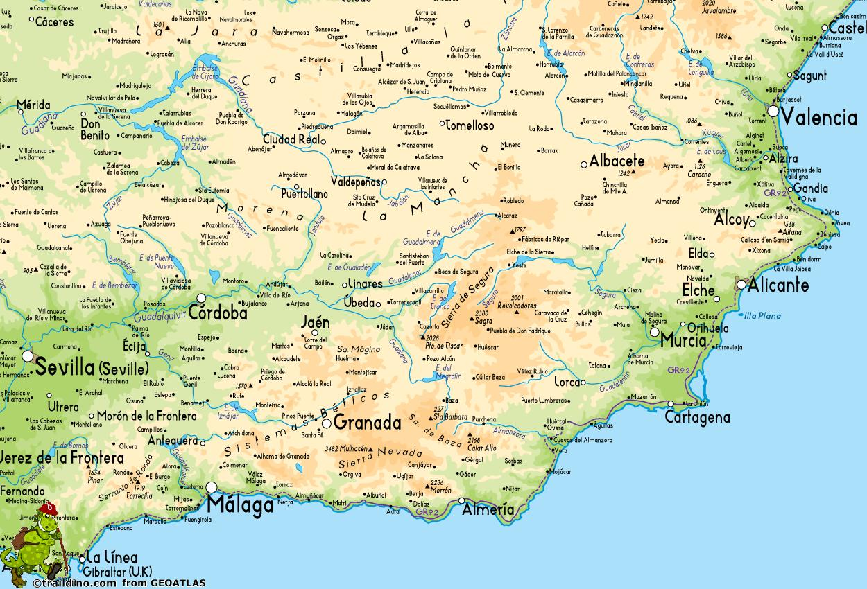 Map Of Southeast Coast Of Spain.Map Of South East Spain Map Of Southeast Coast Of Spain Southern