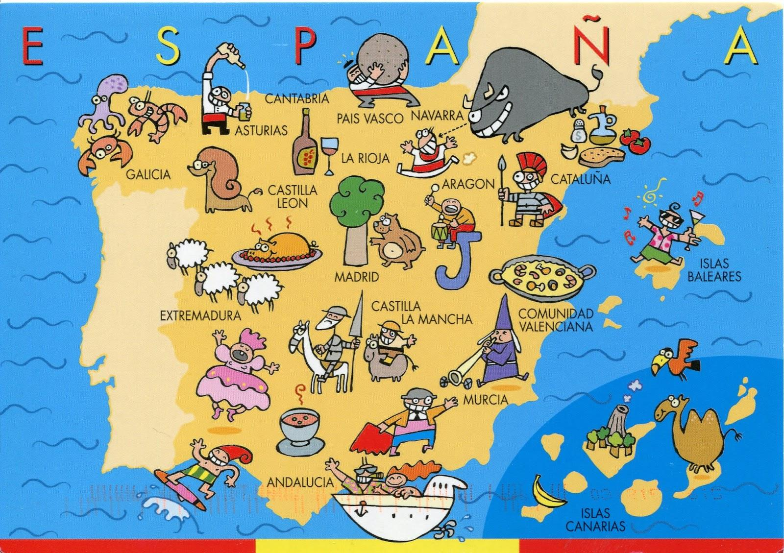 Kids Map Of Spain.Map Of Spain For Kids Spain Map For Kids Southern Europe Europe