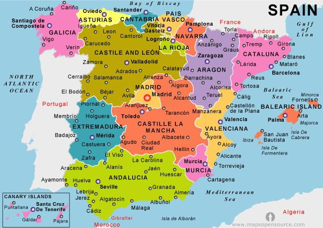 Holiday Map Of Spain.Map Of Spain Holiday Resorts Map Of Mainland Spain Holiday Resorts