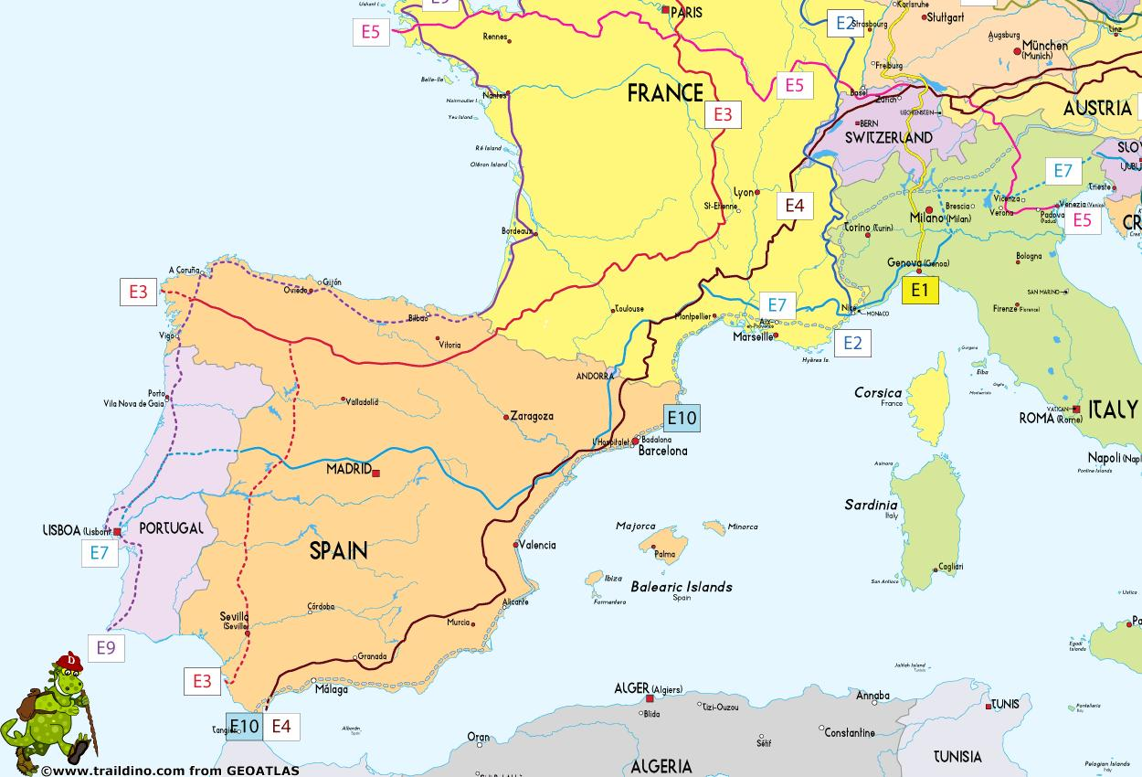 Map Of Spain With Distances.Spain Map Location Map Of Spain With Distances Southern Europe