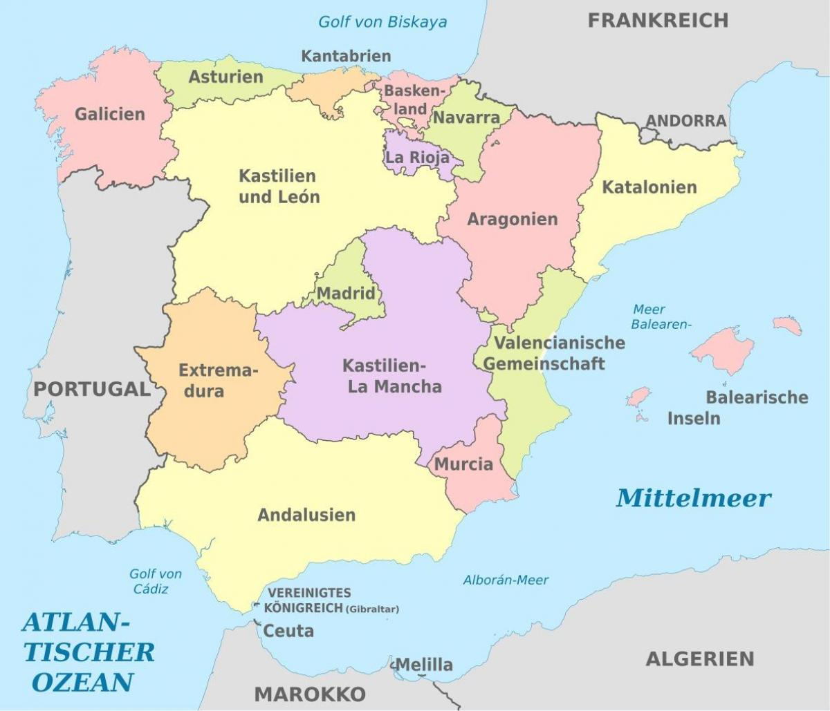Map Of Spain Labeled.Labeled Map Of Spain Map Of Spain Labeled Southern Europe Europe