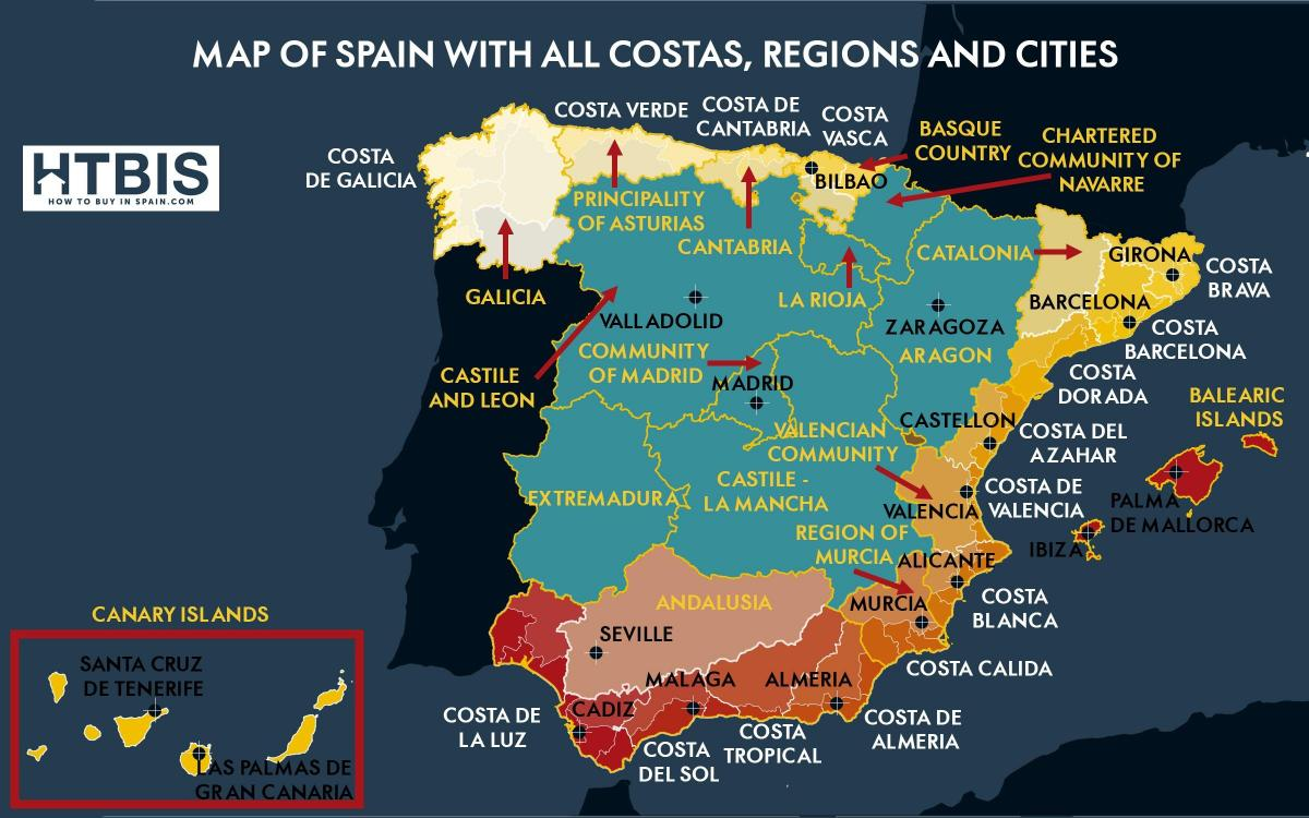 map of southern Spain coastline