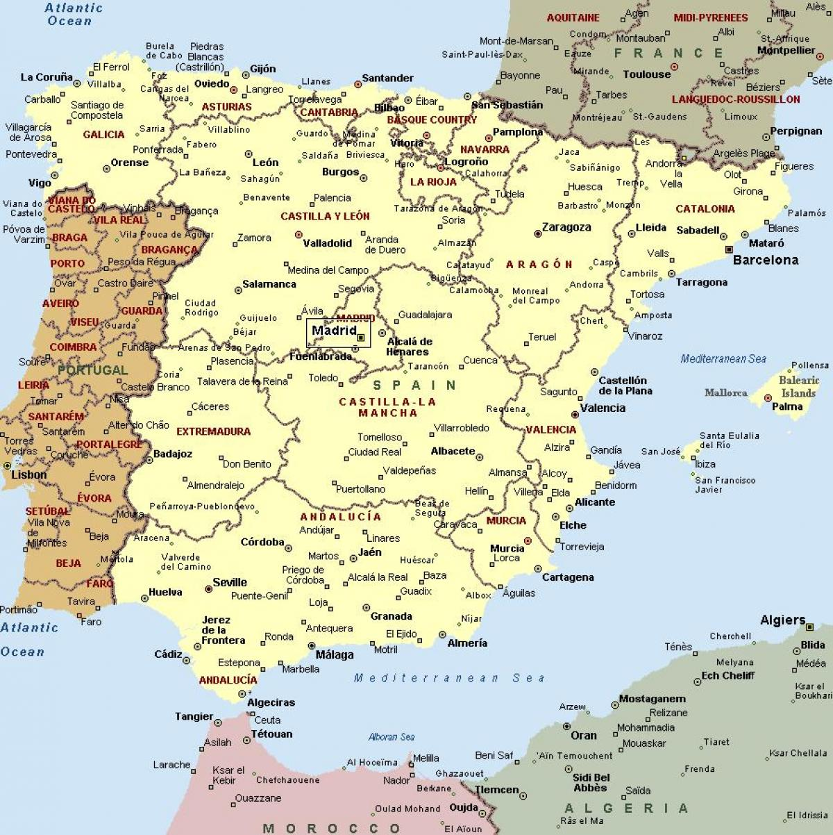 Map of Spain with cities - Map of Spain and cities (Southern Europe Map Of Cities South Spain on spain map regions and cities, map of palau cities, map of burundi cities, map of s korea cities, pamplona spain map cities, map of ussr cities, map of mexican riviera cities, map of niger cities, map of oceania cities, map of democratic republic of congo cities, map of new brunswick canada cities, map of the us cities, map of latin america cities, map europe cities, map of islam cities, spain major cities, map of the carolinas cities, map of kosovo cities, map of atlantic ocean cities, map of guyana cities,