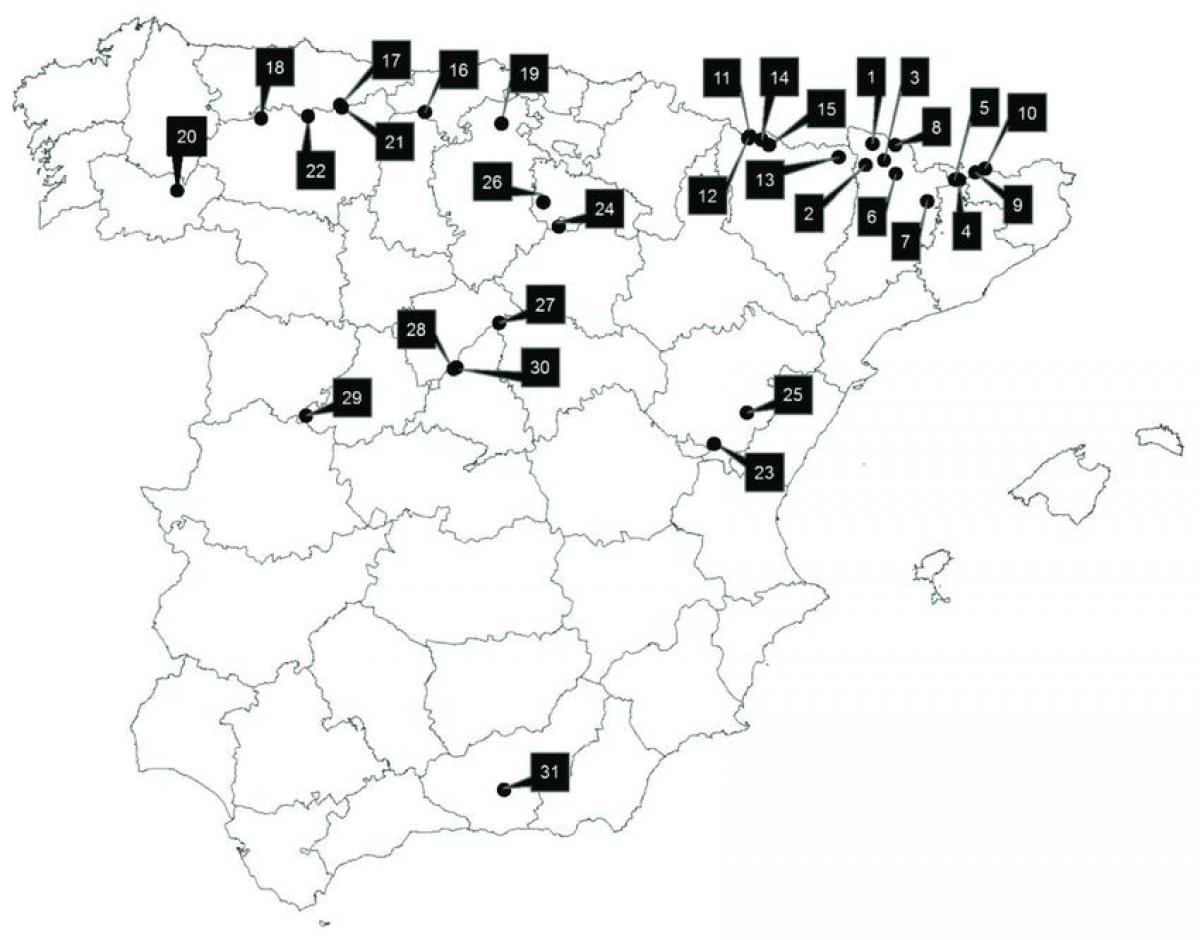 Map Of Southern Spain Resorts.Skiing In Spain Map Spain Ski Resorts Map Southern Europe Europe