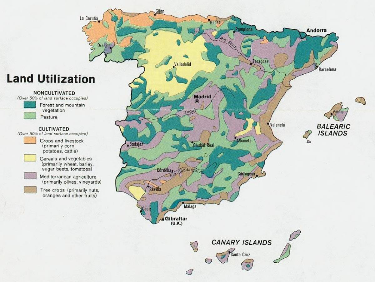 map of Spain agriculture