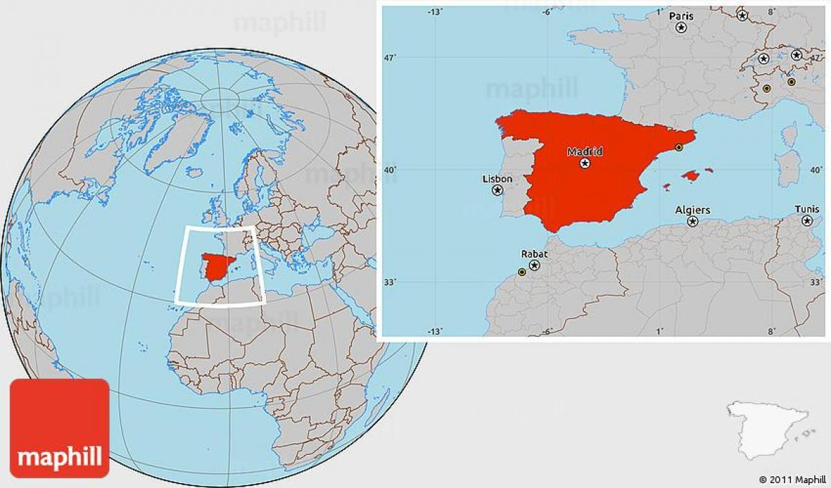 Spain location on world map - Spain in world map location ...