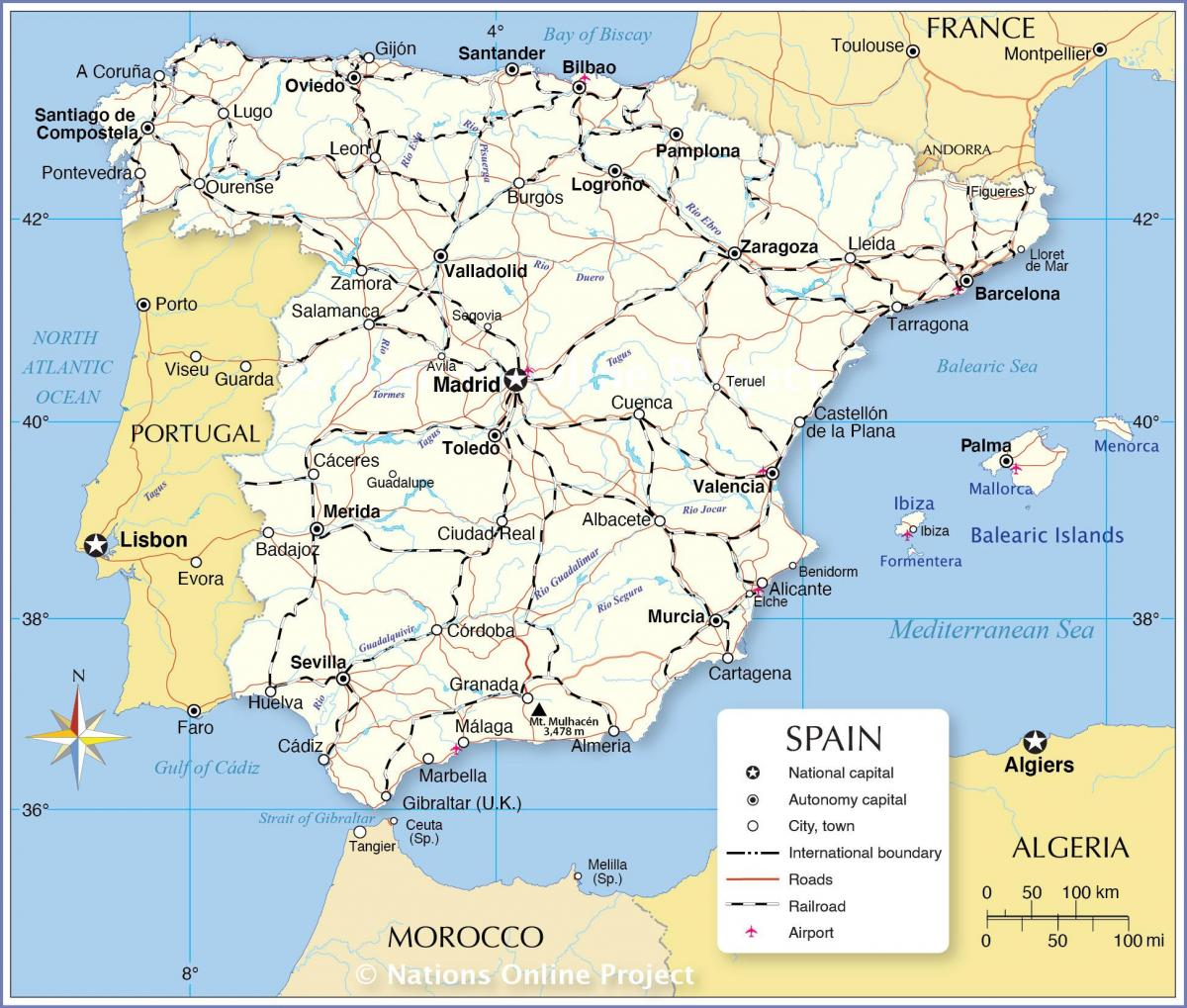 map showing Spain