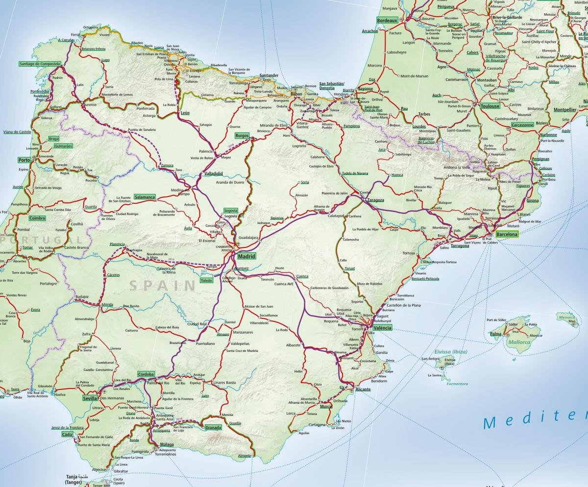 map of Spain rail