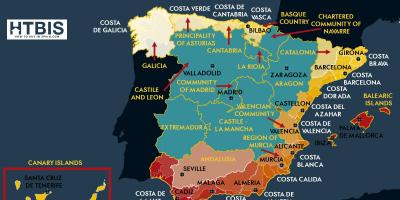 Detailed map of east coast of Spain