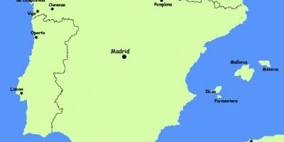 Northern Spain resorts map