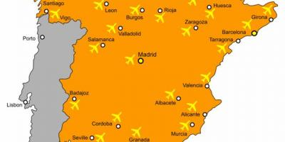 Spain map airports