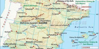 Mallorca map of spain and Mallorca Map