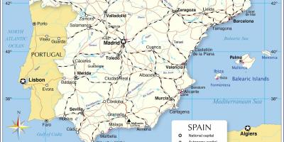 Map Of Spain And Europe.Spain Map Maps Spain Southern Europe Europe