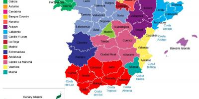 Spain map Maps Spain Southern Europe Europe