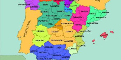 Map Of Spain With States.Spain Map Maps Spain Southern Europe Europe