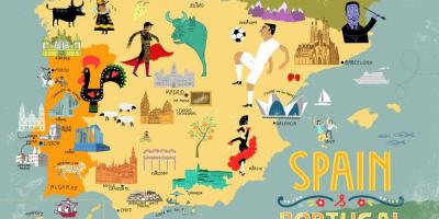 Spain tourist map cities